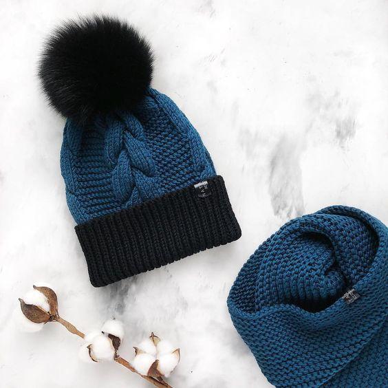 Вязаные шапки и снуды в тренде этой зимой 2019   коллекция (25 картинок) (1)