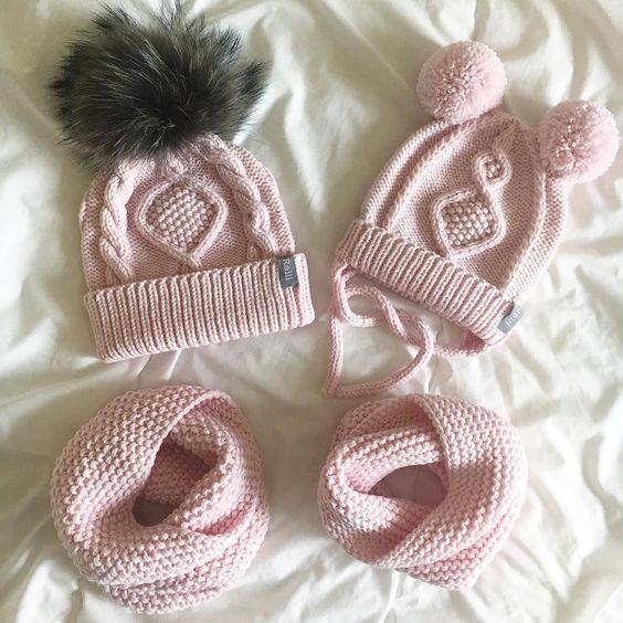 Вязаные шапки и снуды в тренде этой зимой 2019   коллекция (25 картинок) (11)