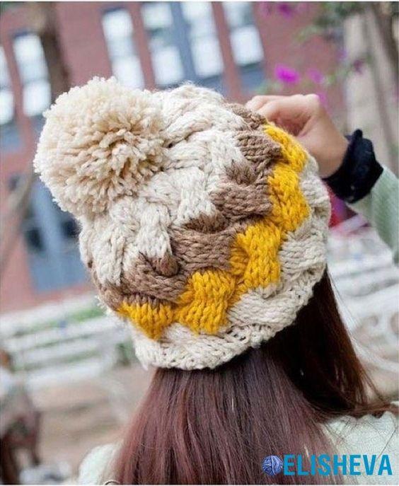 Вязаные шапки и снуды в тренде этой зимой 2019   коллекция (25 картинок) (16)
