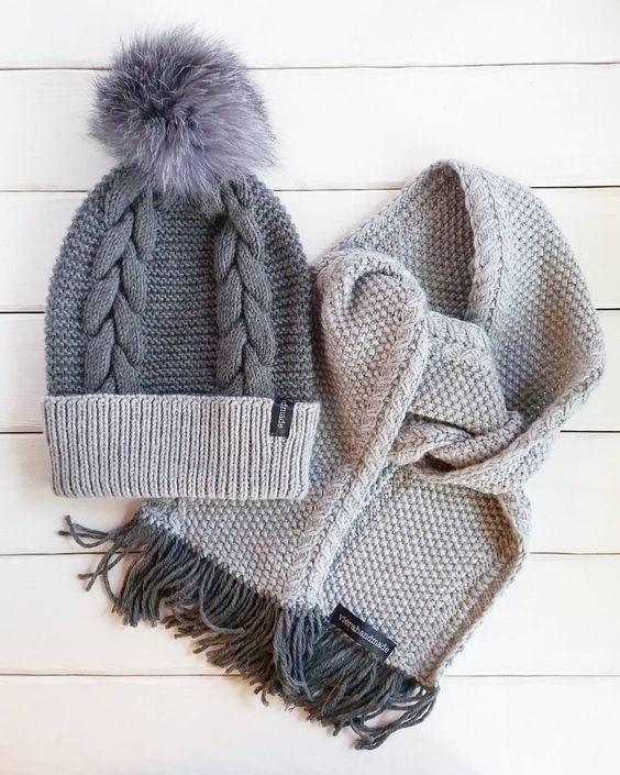 Вязаные шапки и снуды в тренде этой зимой 2019   коллекция (25 картинок) (4)
