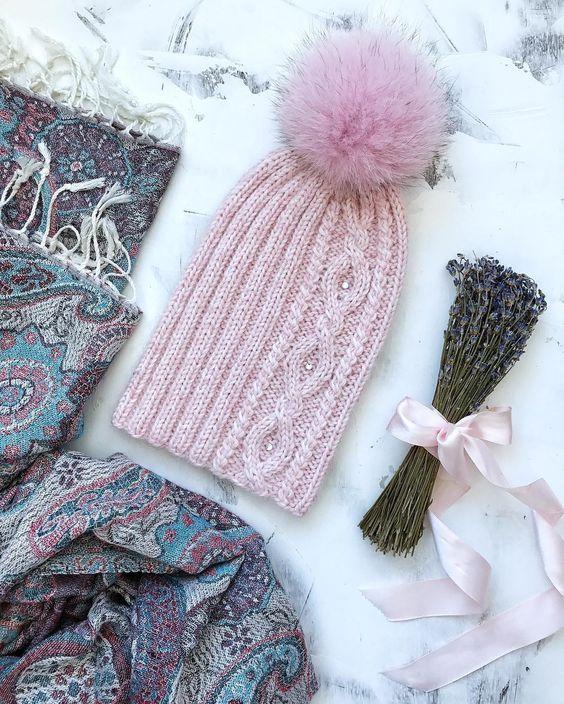 Вязаные шапки и снуды в тренде этой зимой 2019   коллекция (25 картинок) (5)