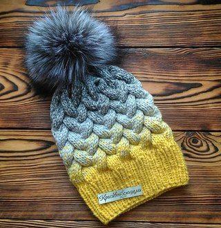 Вязаные шапки и снуды в тренде этой зимой 2019   коллекция (25 картинок) (6)