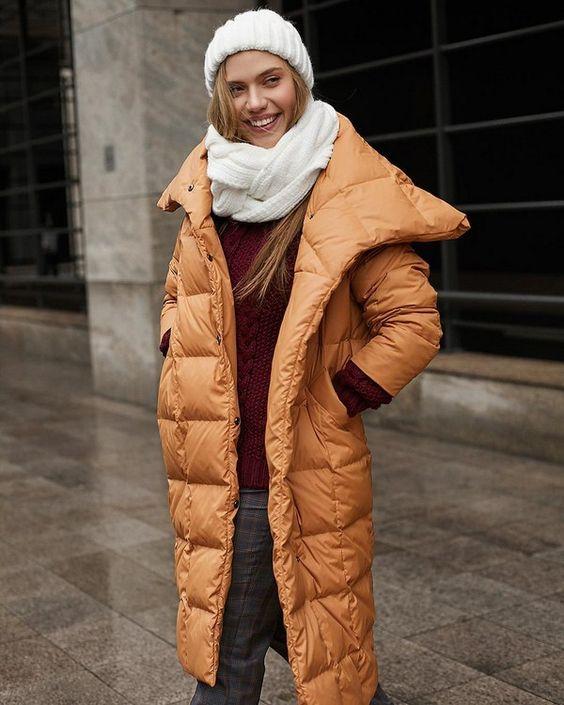 Модные пуховики зима 2019 фото женские модные   коллекция (29 картинок) (27)