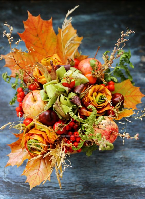 Осенний букет поделка   скачать бесплатно (27 картинок) (7)