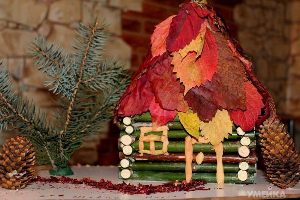 Поделки из природного материала на тему осень для детского сада 1