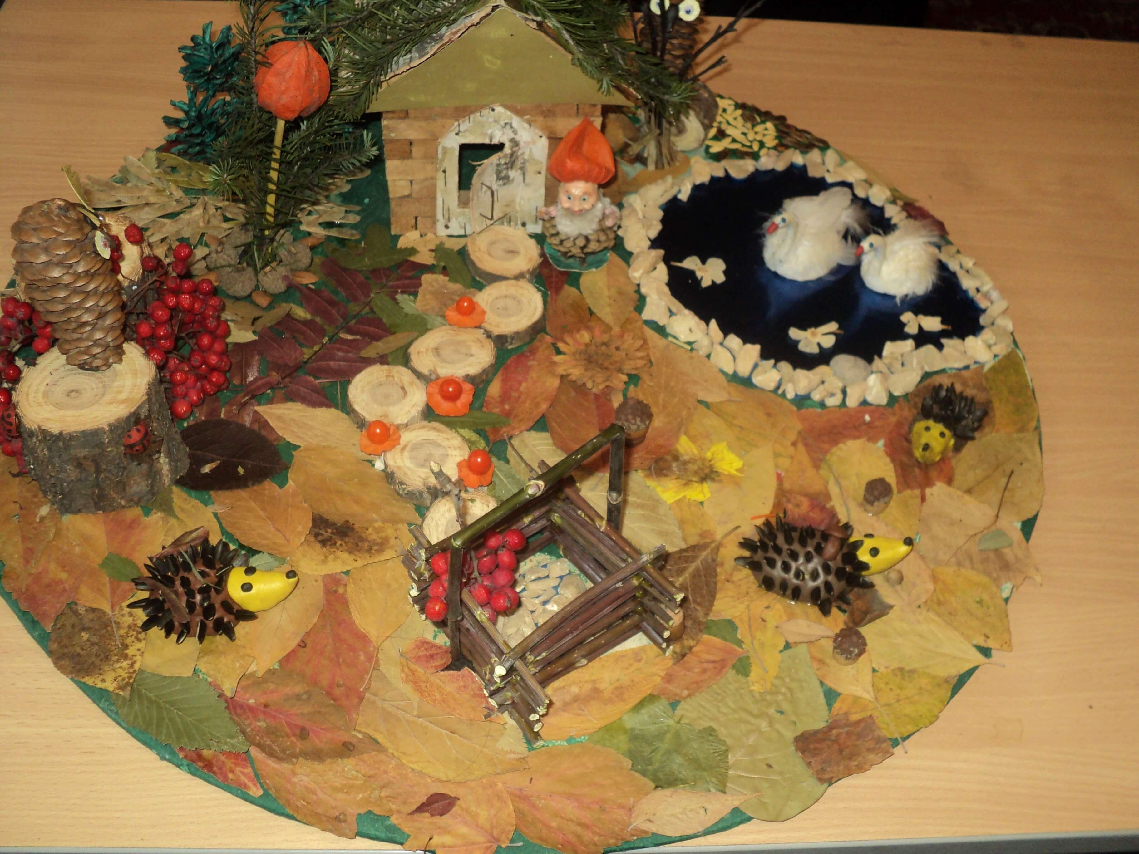 Поделки из природного материала на тему осень для детского сада 10