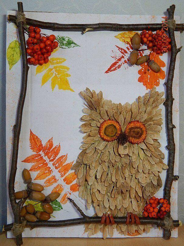 Поделки из природного материала на тему осень для детского сада 11