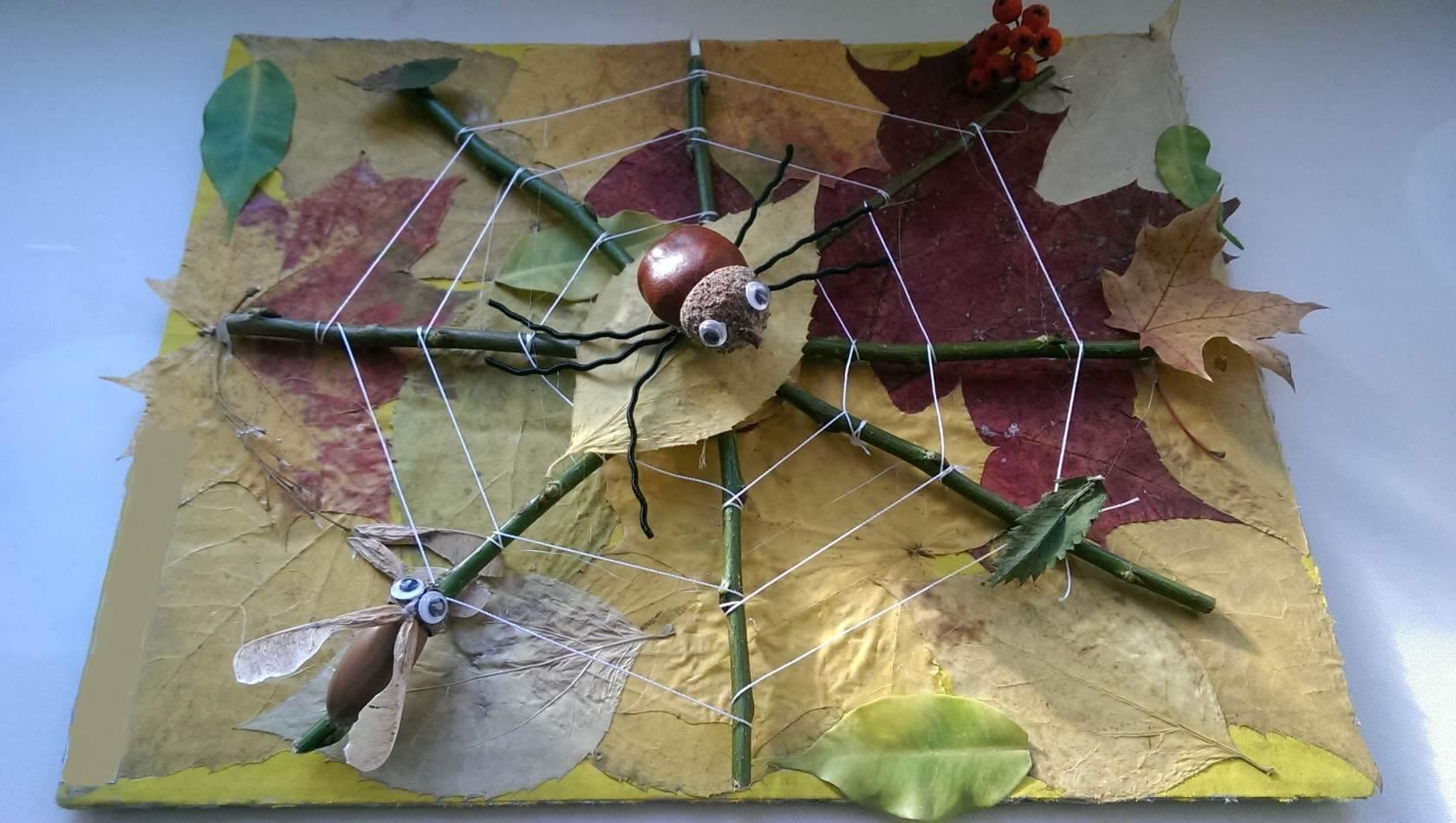 Поделки из природного материала на тему осень для детского сада 12