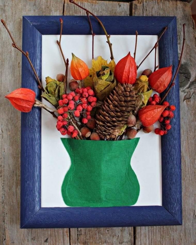 Поделки из природного материала на тему осень для детского сада 16