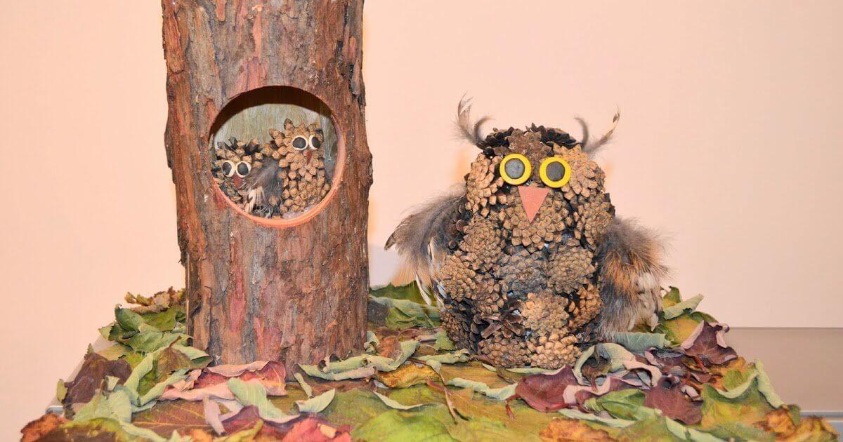 Поделки из природного материала на тему осень для детского сада 17