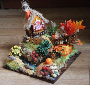 Поделки из природного материала на тему осень для детского сада 23