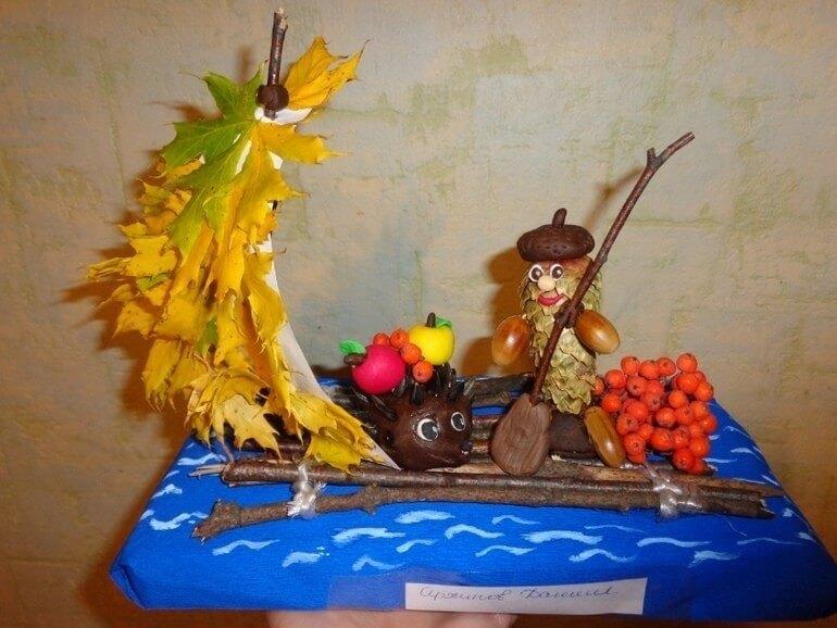 Поделки из природного материала на тему осень для детского сада 24