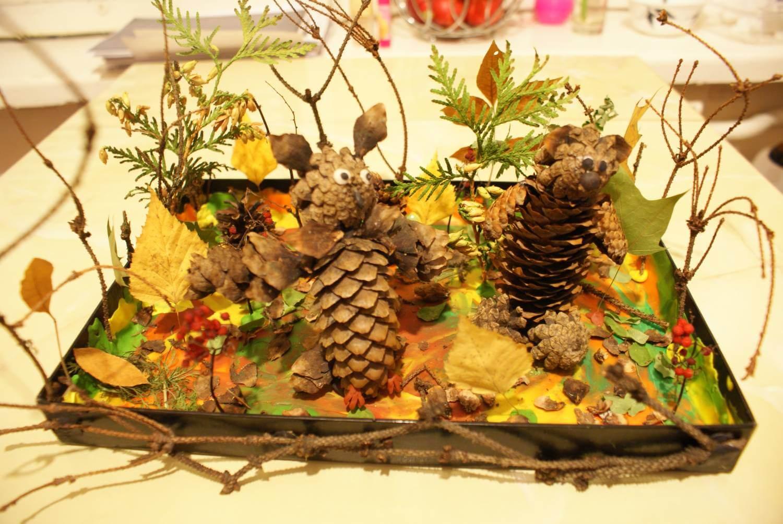Поделки из природного материала на тему осень для детского сада 4