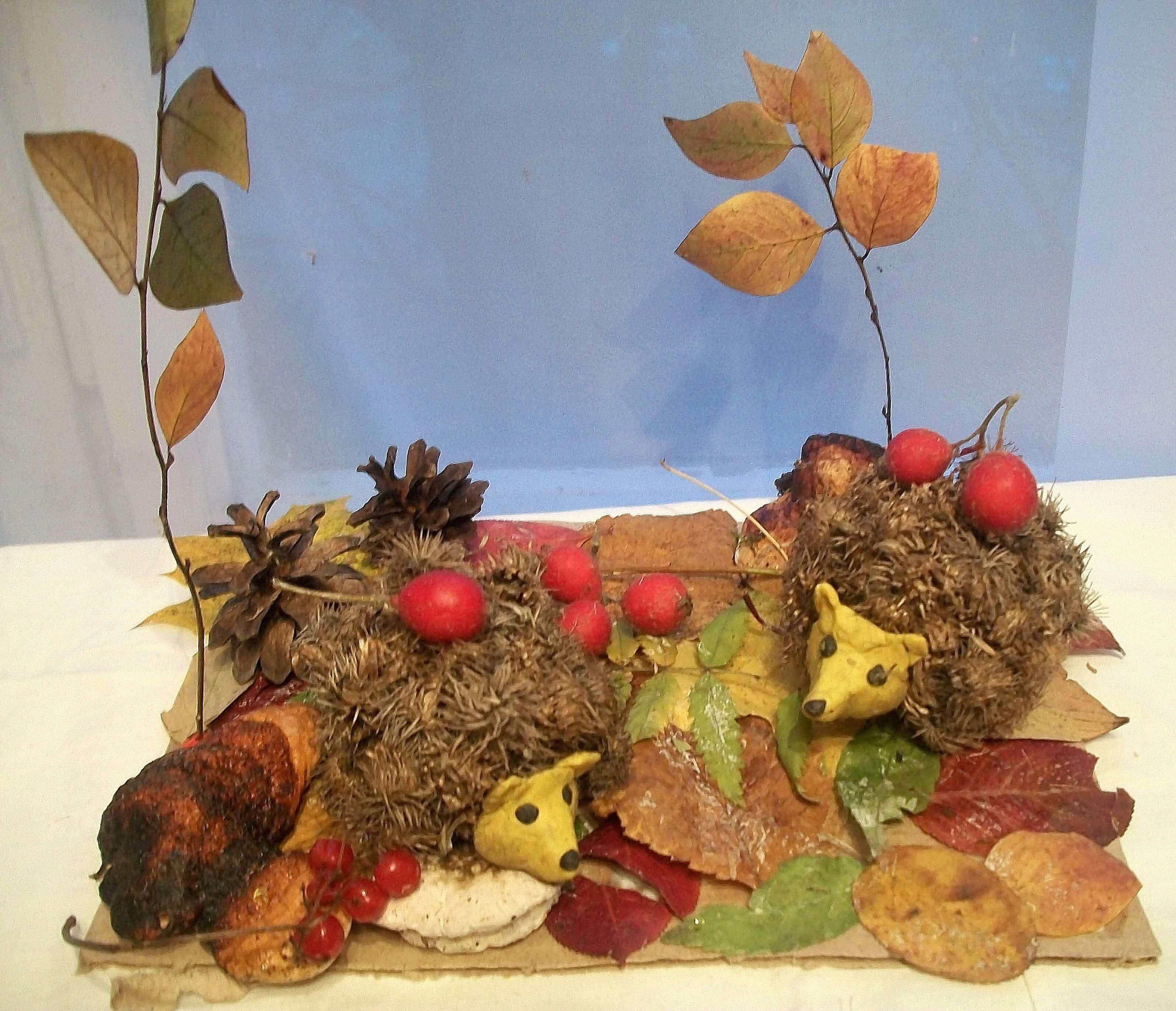 Поделки из природного материала на тему осень для детского сада 5