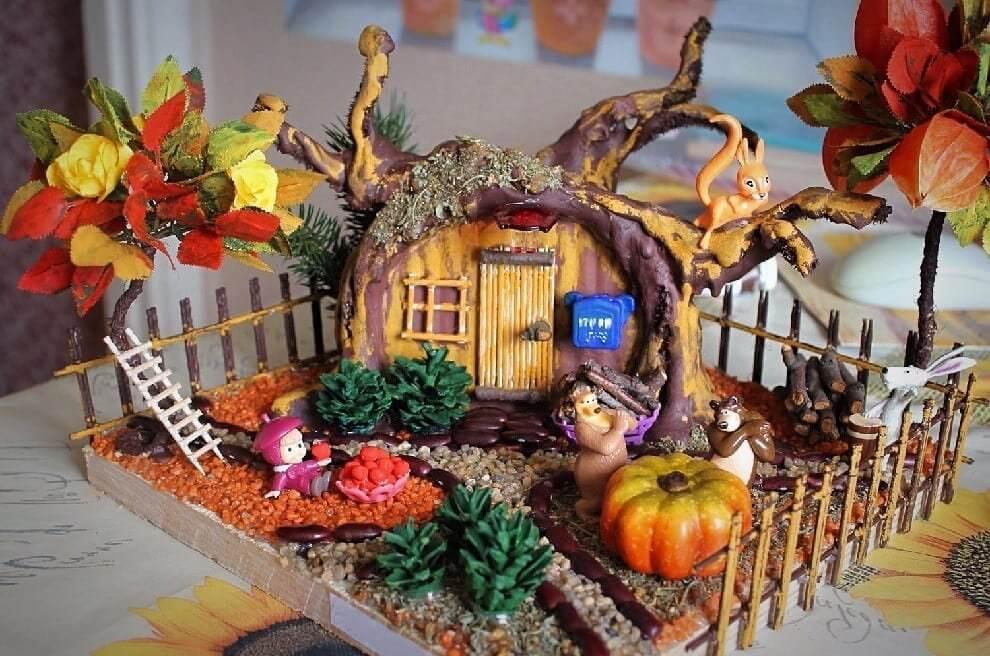 Поделки из природного материала на тему осень для детского сада 6