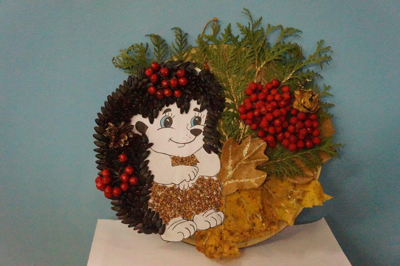 Поделки из природного материала на тему осень для детского сада 8
