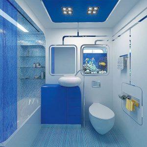 Ремонт в ванной комнате фото   красивый дизайн 37 картинок (8)