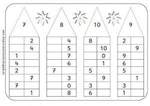 Состав числа до 10 домики распечатать 1 класс   сборка (13 картинок) (1)