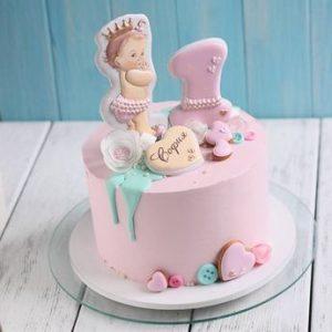 Торт на годик девочке   вкусняшки (24 картинки) (22)
