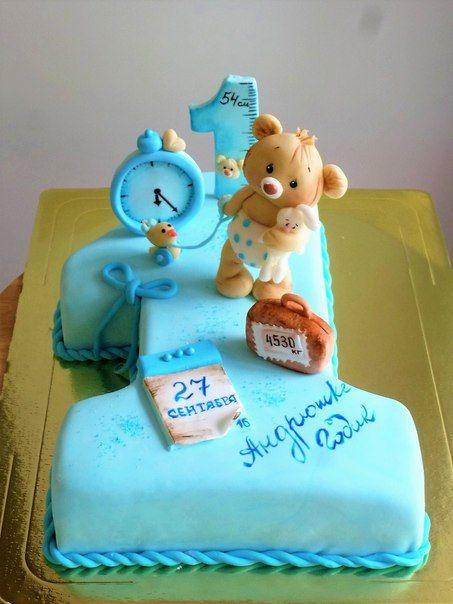 Торт на годик мальчику   подборка (22 картинки) (1)