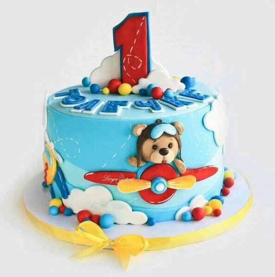 Торт на годик мальчику   подборка (22 картинки) (20)