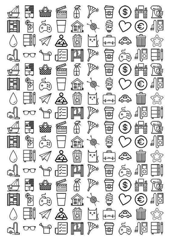 Черно белые распечатки для лд   скачать бесплатно 22 штуки (6)