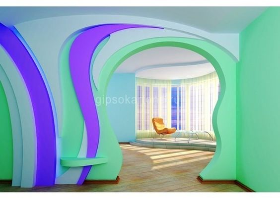 Арки из гипсокартона фото дизайн интерьера   подборка (18 картинок) (2)