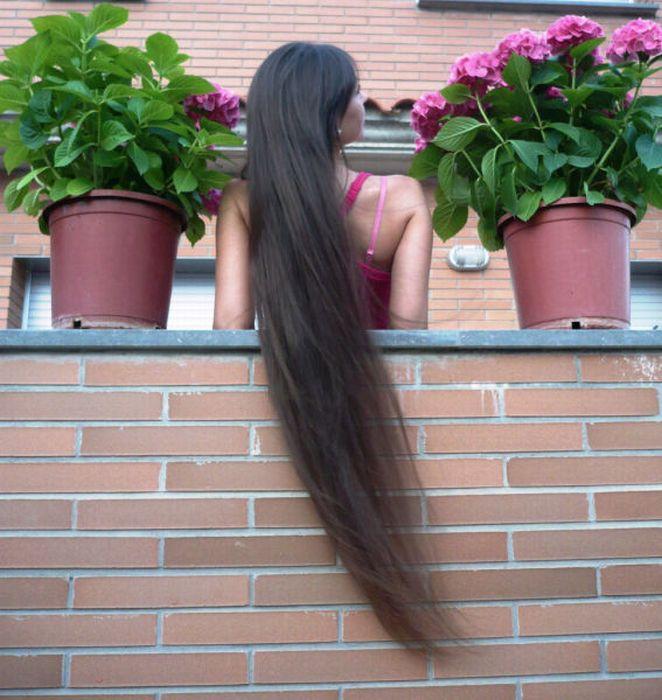 Брюнетка со спины с длинными волосами   подборка фото (25)