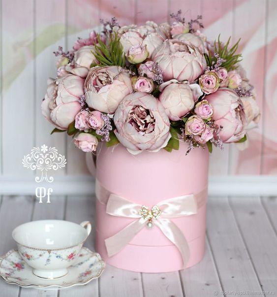 Букеты в корзине из живых цветов фото (1)
