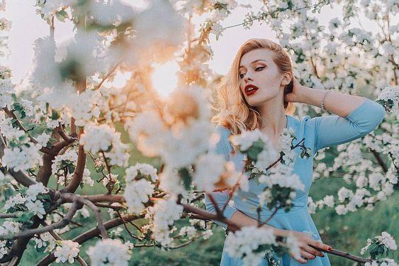 Весна красивые фотосессии для девушек подборка фото (2)