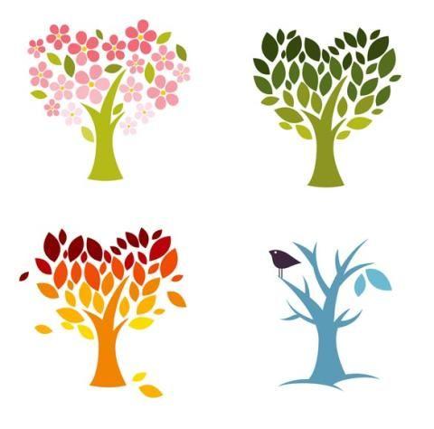 Времена года дерево   красивые поделки и рисунки для детей (10)
