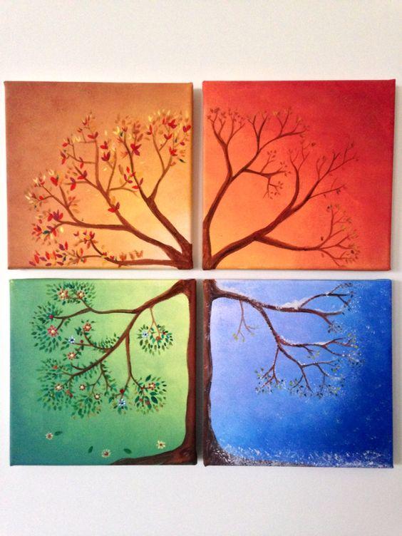 Времена года дерево   красивые поделки и рисунки для детей (12)