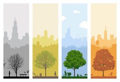 Времена года дерево   красивые поделки и рисунки для детей (13)