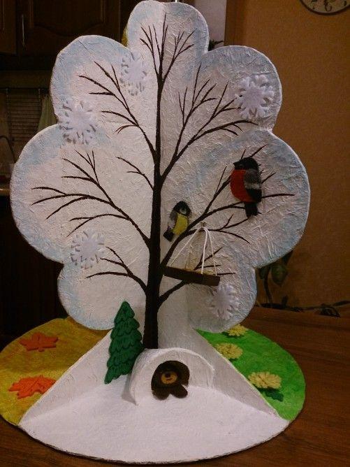 Времена года дерево   красивые поделки и рисунки для детей (15)