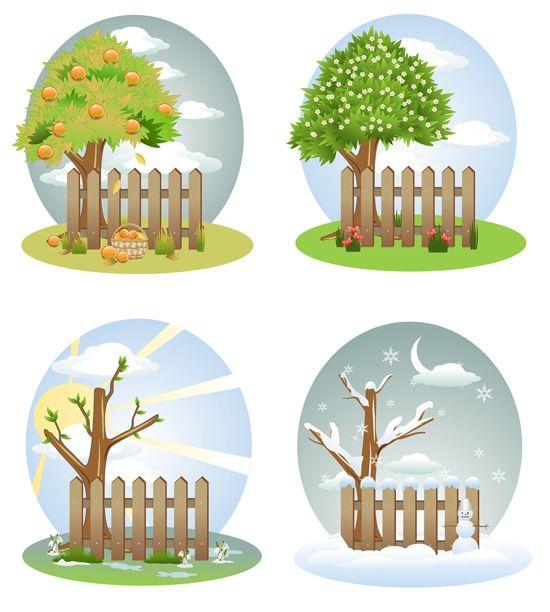 Времена года дерево   красивые поделки и рисунки для детей (2)