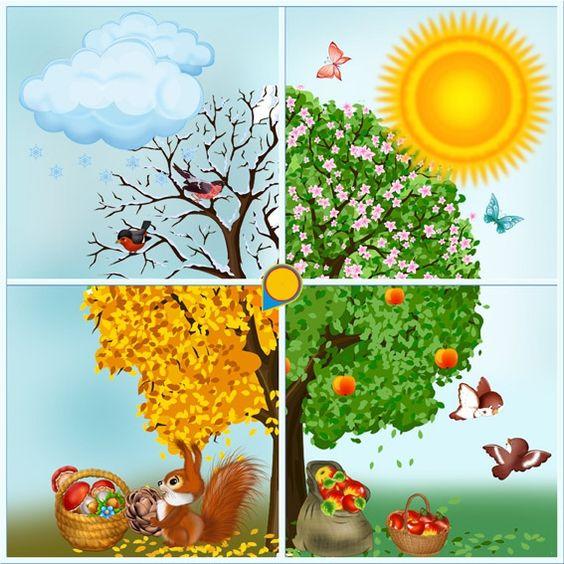 Времена года дерево   красивые поделки и рисунки для детей (20)