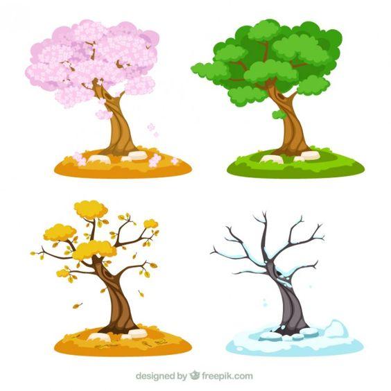 Времена года дерево   красивые поделки и рисунки для детей (21)