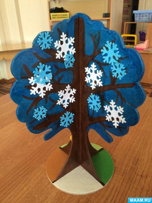 Времена года дерево   красивые поделки и рисунки для детей (22)