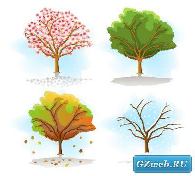 Времена года дерево   красивые поделки и рисунки для детей (23)