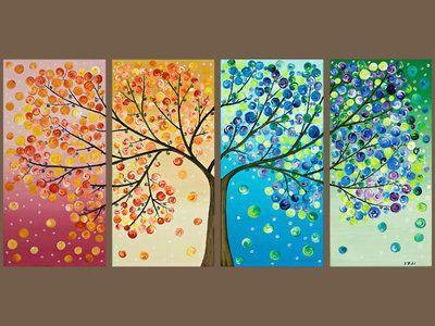 Времена года дерево   красивые поделки и рисунки для детей (24)