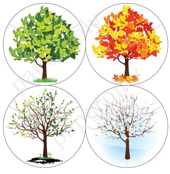 Времена года дерево   красивые поделки и рисунки для детей (26)