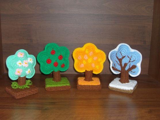 Времена года дерево   красивые поделки и рисунки для детей (3)