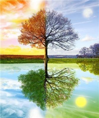 Времена года дерево   красивые поделки и рисунки для детей (5)