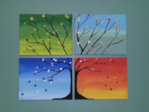 Времена года дерево   красивые поделки и рисунки для детей (6)