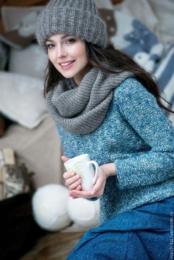 Вязание крючком шапки женские на осень зиму   большая коллекция (19 картинок) (1)