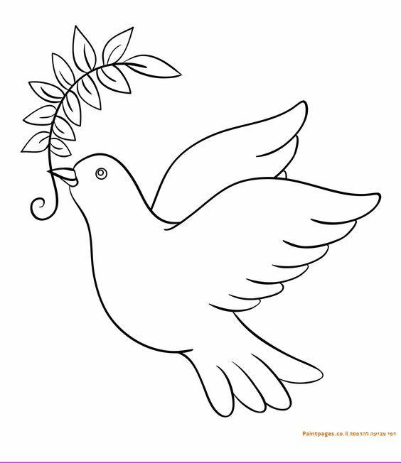 Международный день, картинки голубь мира для вырезания