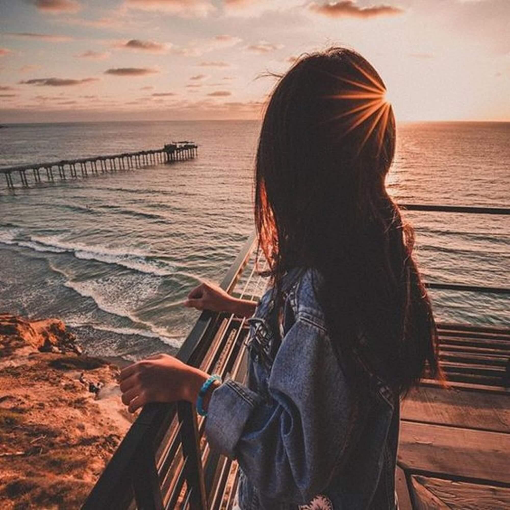 Девушка на море фотографии на аву без лица (13)