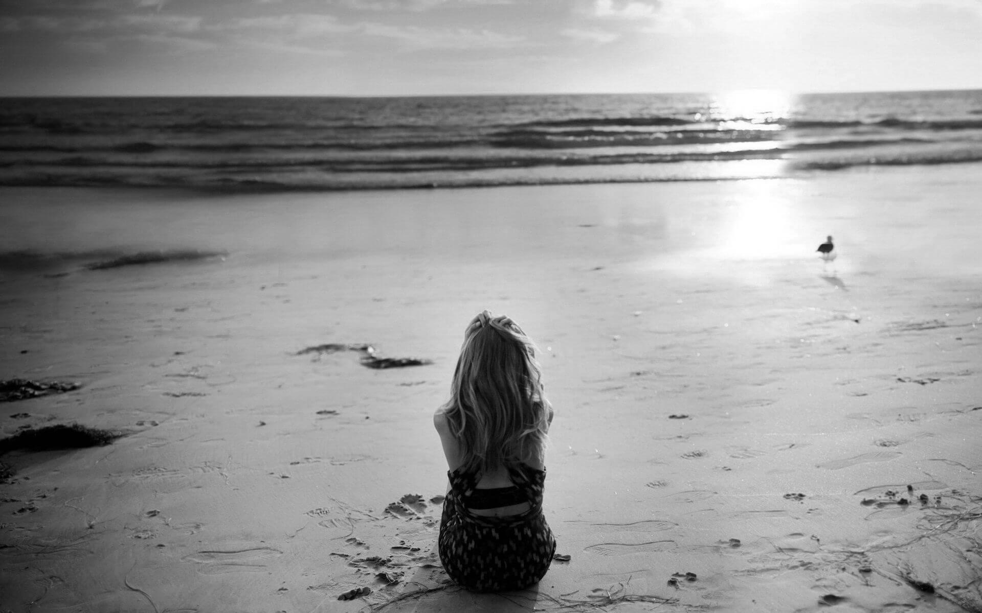 Девушка на море фотографии на аву без лица (4)