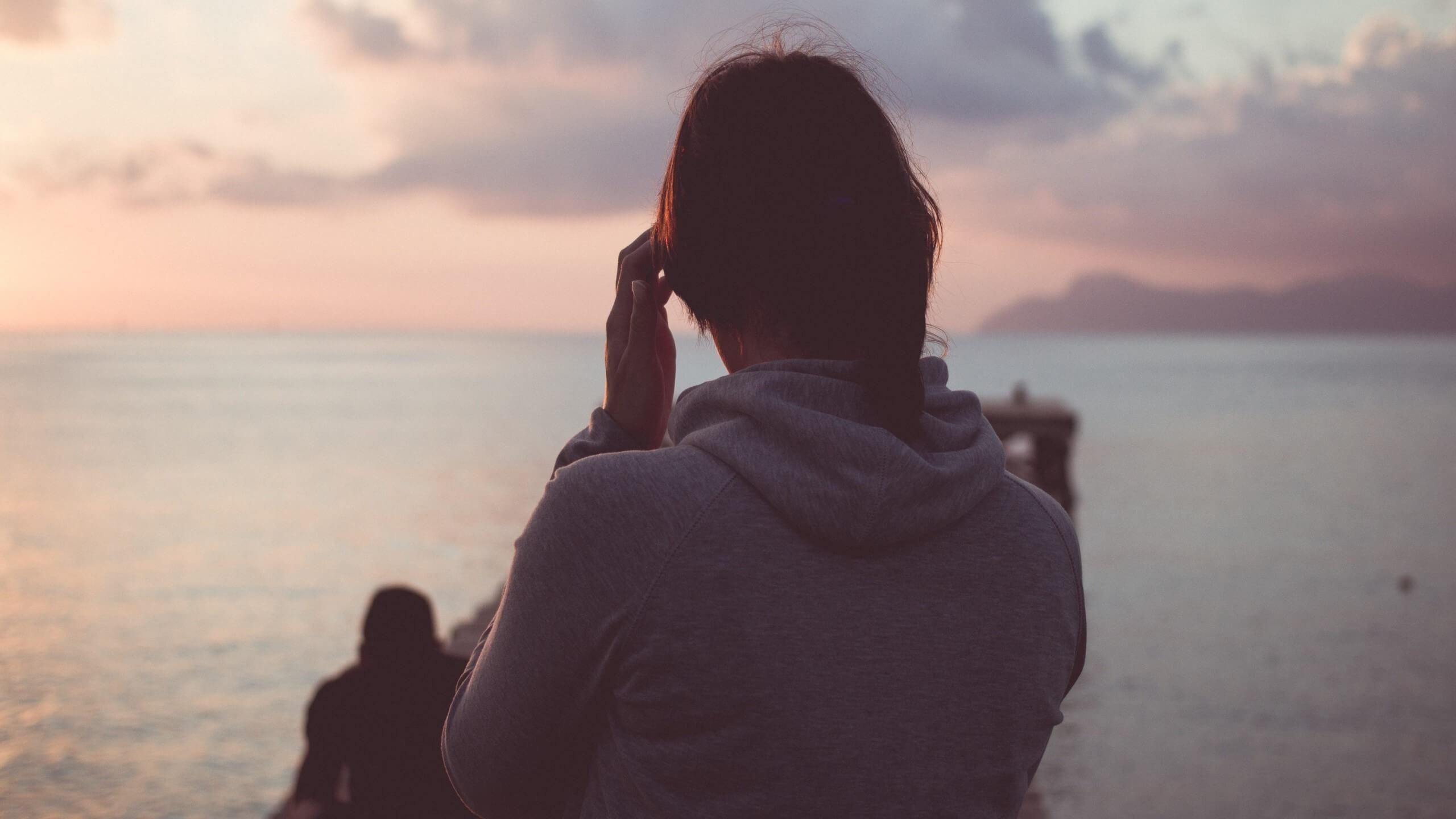 Девушка на море фотографии на аву без лица (8)