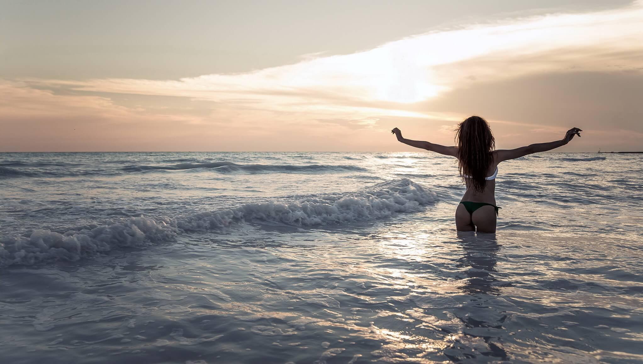 Девушка на море фотографии на аву без лица (9)